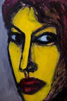 女性の顔のアップ
