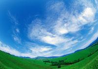 空、雲、野原
