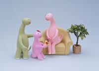 恐竜の3人家族