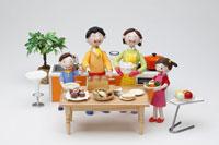 親子の調理イメージ