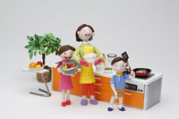 母と子の調理イメージ
