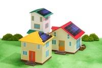太陽光発電の住宅街