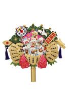 招き猫の七福神の熊手 09522001249| 写真素材・ストックフォト・画像・イラスト素材|アマナイメージズ