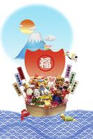 戌の七福神と宝船 09522001271| 写真素材・ストックフォト・画像・イラスト素材|アマナイメージズ