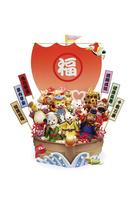 戌の七福神と宝船 09522001273| 写真素材・ストックフォト・画像・イラスト素材|アマナイメージズ