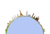 世界遺産と地球イメージ 09522001285| 写真素材・ストックフォト・画像・イラスト素材|アマナイメージズ