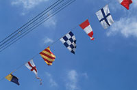 万国旗と空
