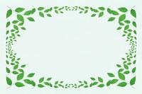 緑葉の四角いフレーム