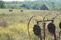 農機具と小屋 ドイツ