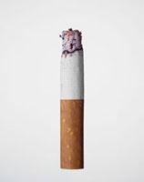 火の付いている紙巻きたばこ