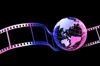 フィルムと地球 10131012113| 写真素材・ストックフォト・画像・イラスト素材|アマナイメージズ