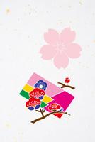 梅の花と色紙 10131018600| 写真素材・ストックフォト・画像・イラスト素材|アマナイメージズ