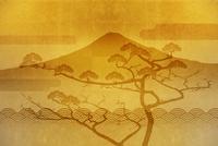 金屏風の富士山と羽衣の松 10131021525| 写真素材・ストックフォト・画像・イラスト素材|アマナイメージズ