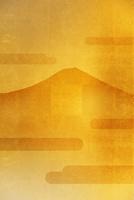 金屏風の富士山
