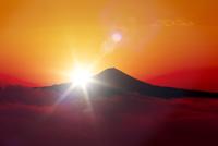雲海と富士山と日の出
