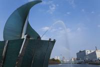 中之島の噴水と天満橋