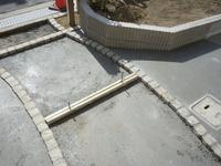玄関のコンクリート打設