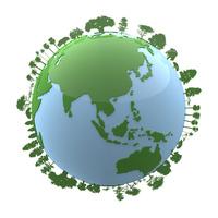 地球と樹木 10131029671| 写真素材・ストックフォト・画像・イラスト素材|アマナイメージズ