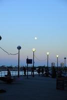 テムズ川南岸の夕景