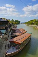 宇治川と鵜飼い舟