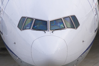 旅客機の操縦席
