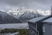 ホテルから見た国立公園のアオラキ・マウント・クック