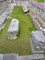 アヤソフィアの旧ハギア・ソフィア大聖堂の遺構