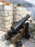 ドゥブロブニクの要塞の大砲