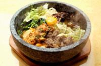 韓国料理の石焼ビビンバ