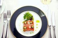 フランス料理の赤ピーマンのテリーヌ