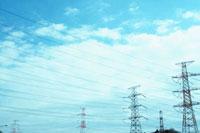 鉄塔と空 10132004760  写真素材・ストックフォト・画像・イラスト素材 アマナイメージズ