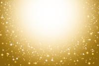 ゴールドの背景とキラキラと輝く星