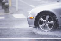 ゲリラ豪雨と道路