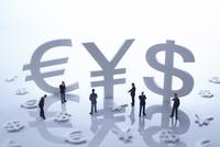 通貨マークの金融イメージ
