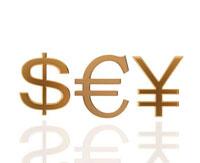 ドルとユーロと円の通貨記号