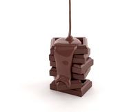 チョコレートを垂らす