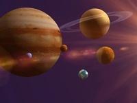宇宙に浮かぶ惑星