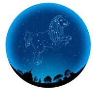田園イメージの球体にしし座(12星座)