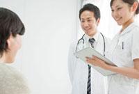 患者に質問する医師と看護師