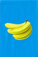 絵画調で描かれたバナナひと房(タテ) 10143000279| 写真素材・ストックフォト・画像・イラスト素材|アマナイメージズ