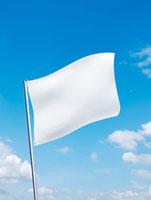 青空にたなびく白い旗