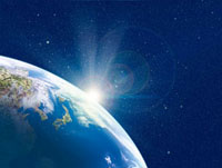 北半球と日の出