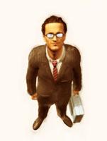 眼鏡をかけた絵画調ビジネスマンのアップ 10143001714| 写真素材・ストックフォト・画像・イラスト素材|アマナイメージズ