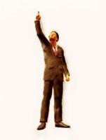 天を指差す絵画調ビジネスマン 10143001726| 写真素材・ストックフォト・画像・イラスト素材|アマナイメージズ