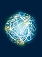 球形軌道を移動する光線