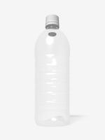 ペットボトルのモノクロイメージ