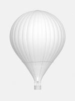 熱気球のモノクロイメージ