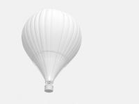 熱気球のモノクロイメージ 10143002360  写真素材・ストックフォト・画像・イラスト素材 アマナイメージズ