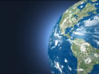 地球儀のアメリカ大陸