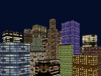 夜景のビル群俯瞰